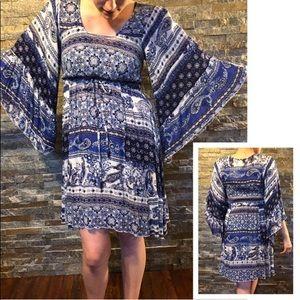 (S) Paisley Boho Festival Dress